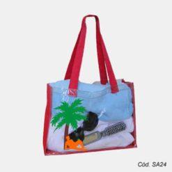 Sacola de Praia Transparente Personalizada