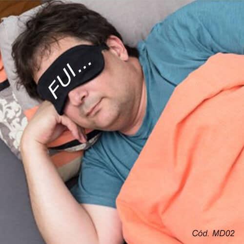 mascara de dormir masculina personalizada